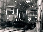 Cars 28 and 29, Derby Castle Top Sheds,1956