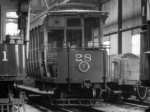 Laxey Car Shed, 1956