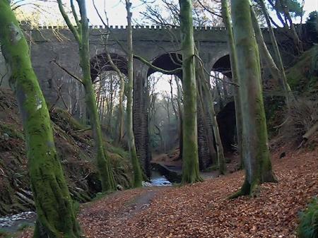 Groudle Viaduct from the bottom of the Glen. © Jon Wornham