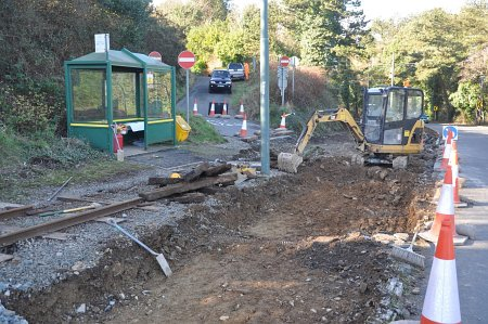 Level Crossing replacement underway at Groudle Old Road. © Andrew Scarffe