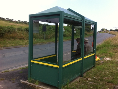Ballameanagh Waiting Shelter in July 2011.