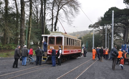 Car No.21 after arrival at Laxey with the 09:40 from Derby Castle. © Andrew Scarffe