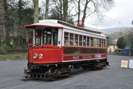 Car No.2 working the 12:10 Ramsey to Derby Castle, pictured here at Laxey. © Andrew Scarffe