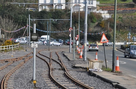 New signalling installed at Laxey, March 2014.