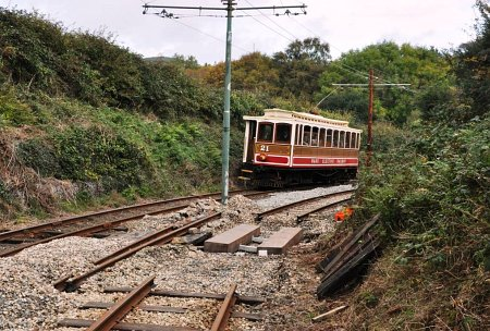 Car No.21 running 'wrong line' at Cornaa, 12.10.14 © Andrew Scarffe