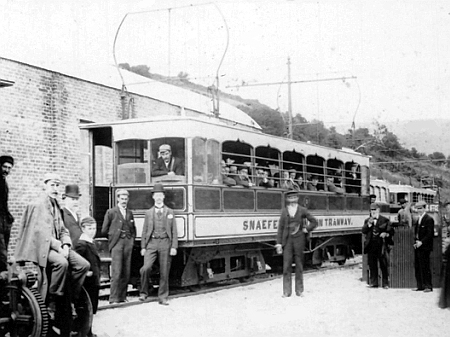 21st of August 1895 at the original Laxey SMR Station, with opening day-proceedings in full swing. © Website Collection