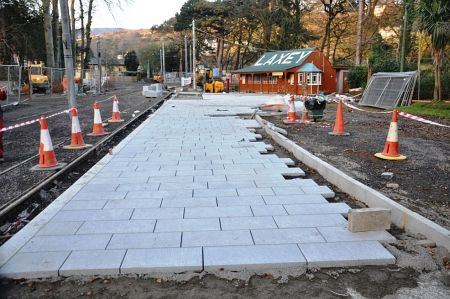 Work undertaken in the station area at Laxey station, 14.02.15