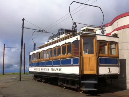 Car No.1 at the Summit, August 2014, a duty it has performed for nearly 120 years. © Alex Fairlie