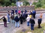 Tour Participants, Laxey CattleDock