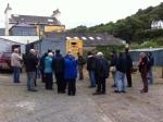 Tour Participants, Laxey BlacksmithsSiding